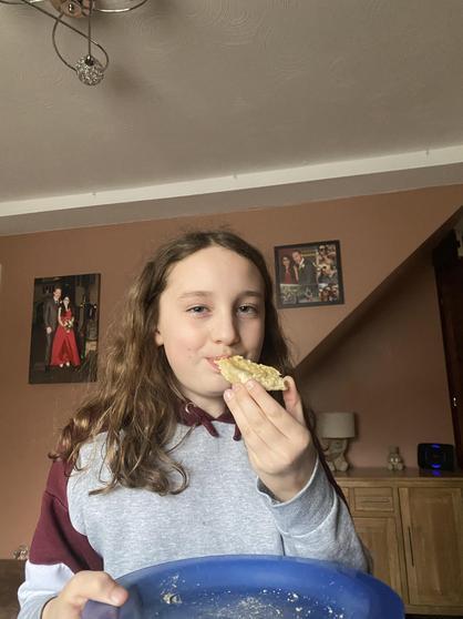 Louisa made Egyptian bread - yummy!