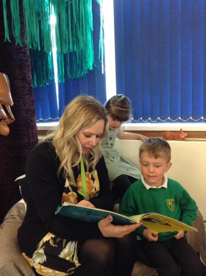 We share and enjoy reading books together