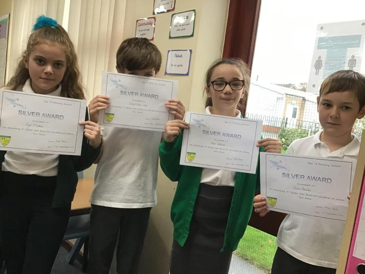 Tayla, Daniel, Keira and James winning silver star awards.
