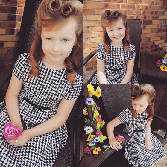 Amelia celebrating VE Day with a 1940's hairstyle