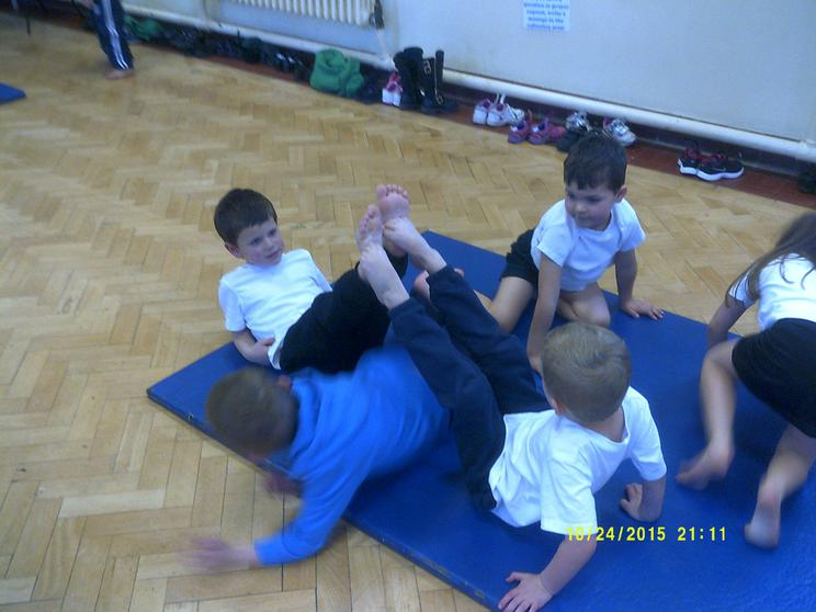 We use our bodies to create different shapes.