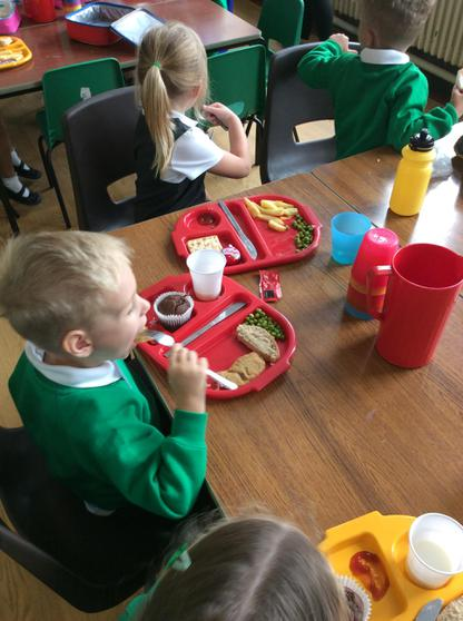 We are starting to use our knives and forks.