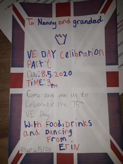 Erin's VE Day celebration invite