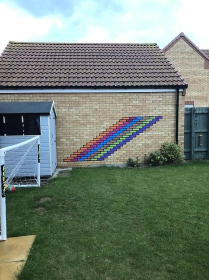 George's fabulous wall!