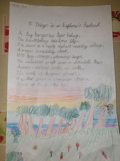 Lucy's explorer poem-super adjectives!
