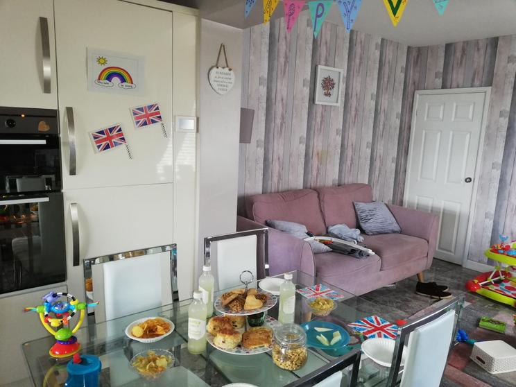 Miri's food and decorations for VE day.