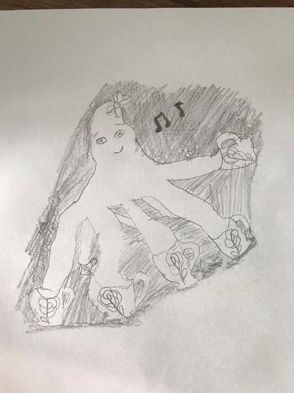 Lily's art work.