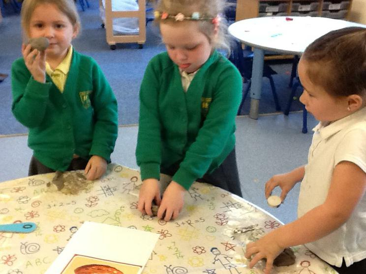 We made Diya lamps when learning about Diwali.