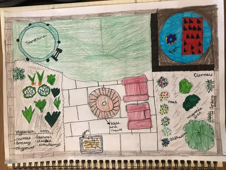 Amie's brownie work for her gardening badge.