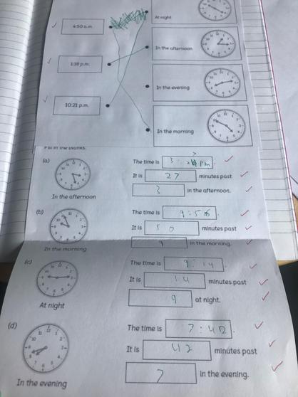 Kameron's maths work.