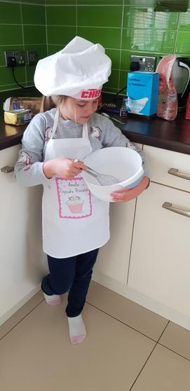 Amelie doing some baking!