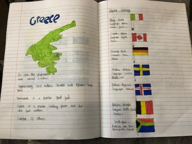 George G's geography work.