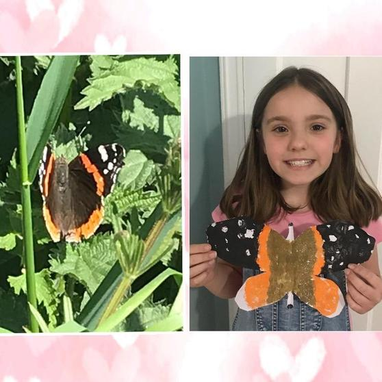 Gracie's Butterfly Painting