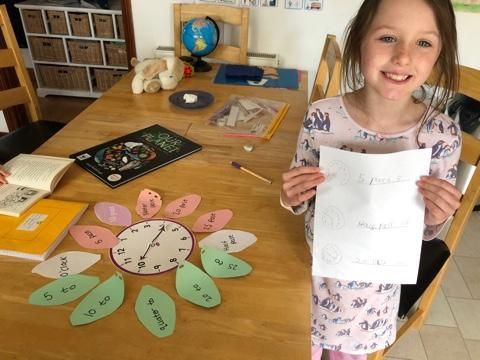 Learning to tell the time by Bella