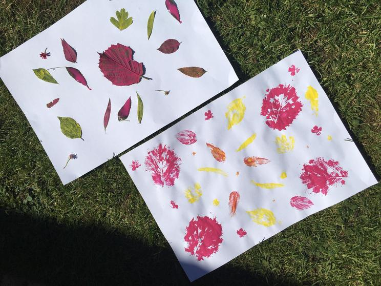 Isabella's nature printing.