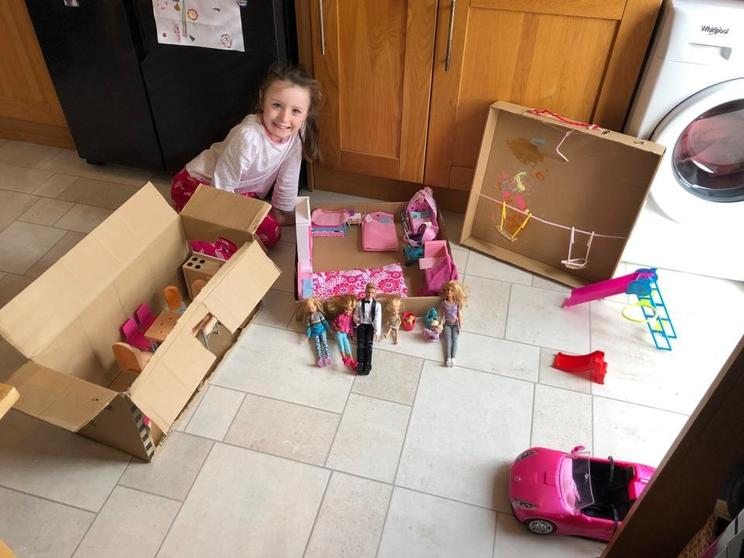 Bella has been creative & made a Barbie playground