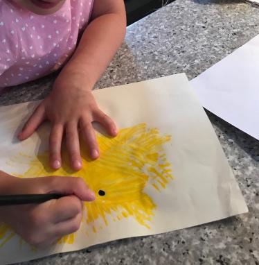 Chick art activity.