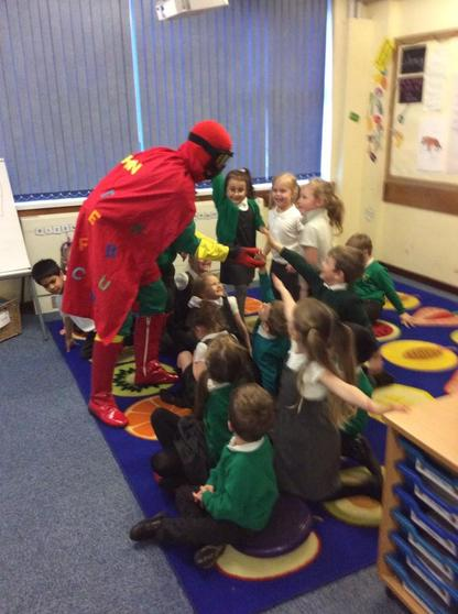 Bookman visits us and talks about how much he loves books!