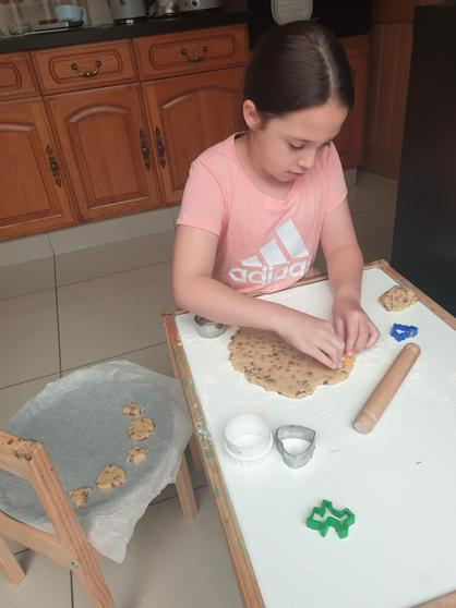 Millie has been busy baking cookies. Yum!
