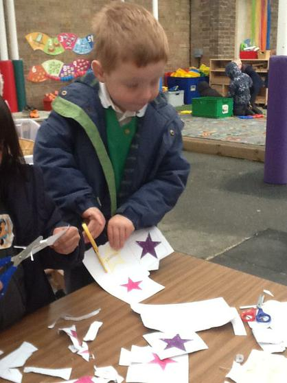 We cut, stick & fold things to make our creations.