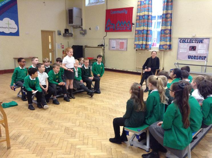 Yr 4 acting out a debate - Parliament Week