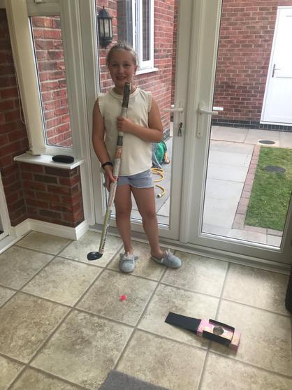Amie created a golf course.