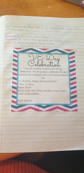 Keira's invitation