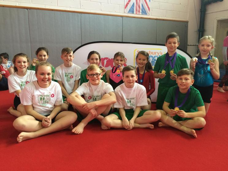 Gymnastics team! Crowned Champions of Peterborough
