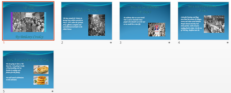 VE Day powerpoint by Bethany