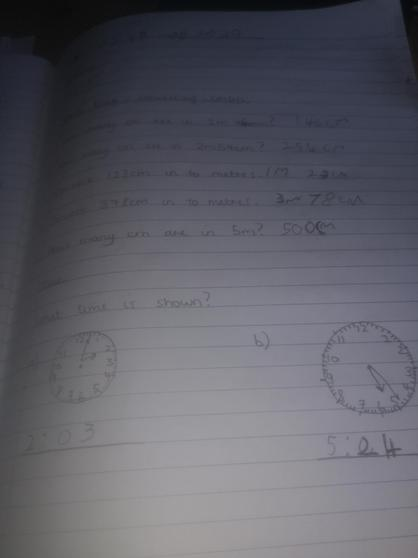 Maths work by Dylan