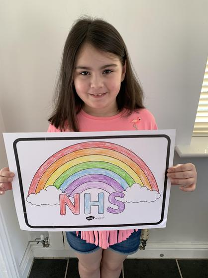 Hollie's beautiful rainbow to support our NHS