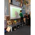 Interactive whiteboard maths