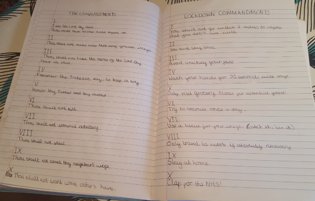 Isobel's 10 Commandments