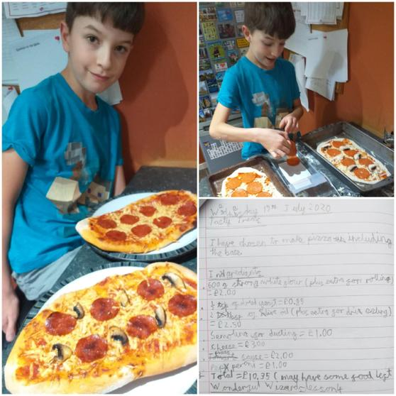 Joshua has been making pizza!