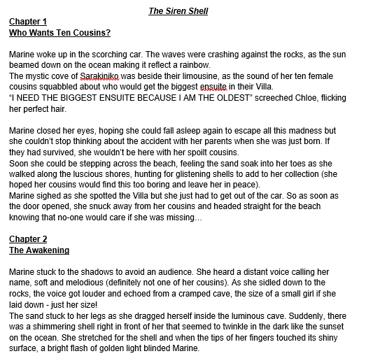 Bella's Story - The Siren Shell (Page 1)