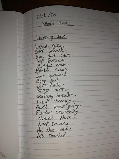 Archie's sports poem.