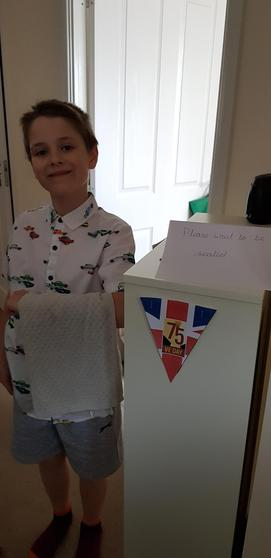 Ryan made a posh dinner for VE day.