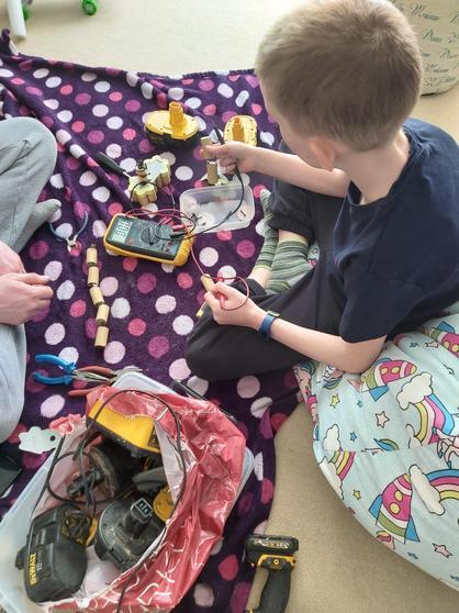 Archie testing batteries.