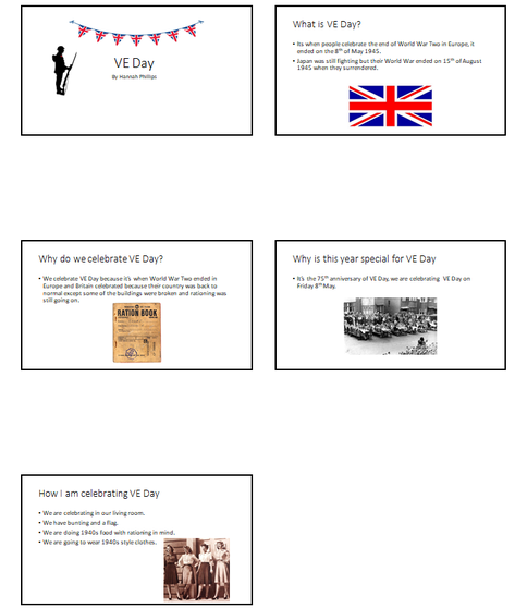 Hannah's VE day presentation