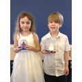 Louisa and Oscar's home learning.