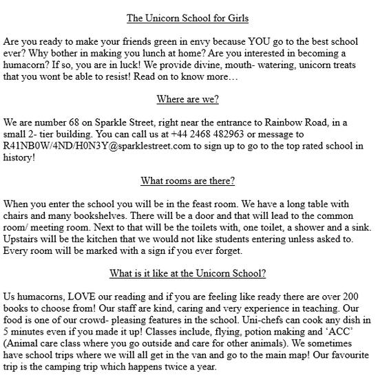 Isobel's persuasive advert - Page 1