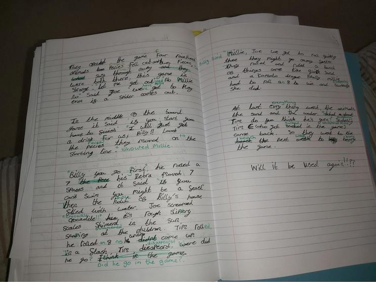 Archie's writing.