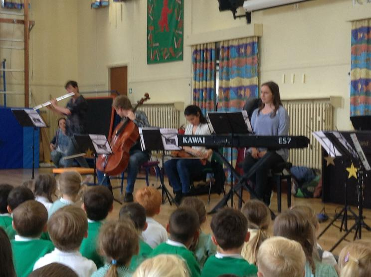 A visit from some musicians- captivated!