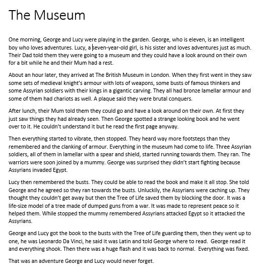 Joshua's Story - The museum