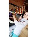 Laela making brownies