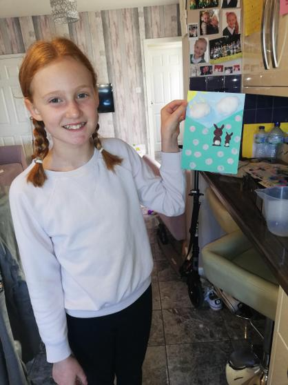 Miri has made a lovely Easter card.