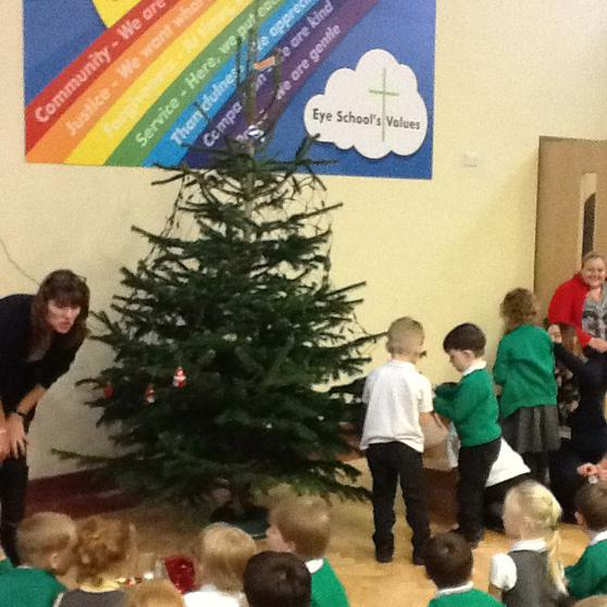 We join in with the school Christmas celebrations.