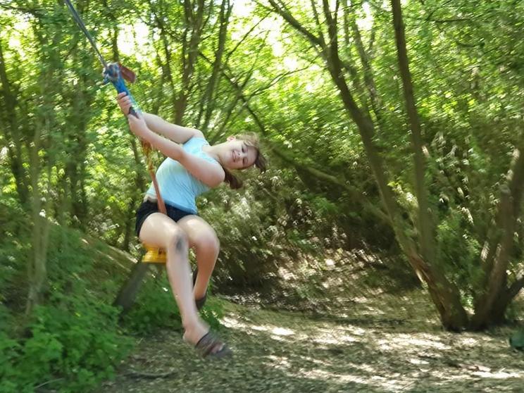 Amelia enjoyed swinging from trees!