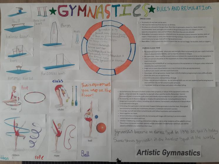 Appraisal of gymnastics by Erin