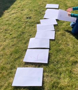 Ordering numbers in the garden.
